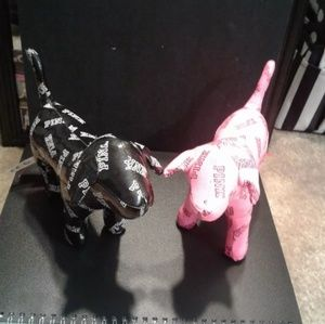 2 Victoria Secret Pink - Mini PINK Dogs